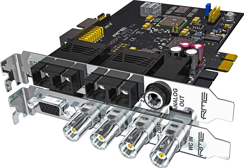 RME HDSPe MADI FX, una scheda audio in grado di gestire fino a 390 canali