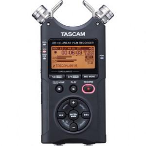 Tascam DR-40, un registratore portatile da 4 tracce