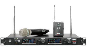 Avlex Mipro ACT-82A (ricevitore digitale), ACT-8HA e ACT-8TA (trasmettitori digitali)