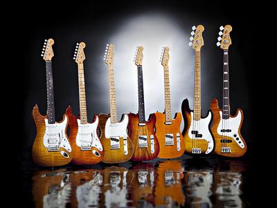 Fender ha introdotto la serie Select con nuovi bassi e chitarre elettriche