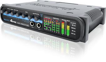 Motu 4pre, una compatta interfaccia audio ibrida usb e firewire 6 × 8 che funziona anche come mixer