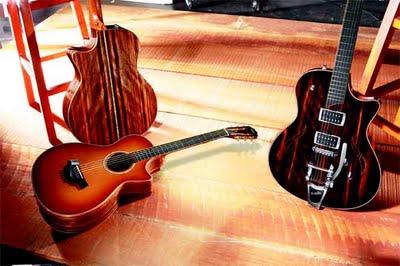 Taylor annuncia delle edizioni di chitarre Limiteds, in noce, ebano Macassar e mogano