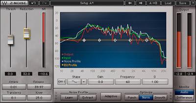 Plugin vst per il restauro dell'audio e la riduzione del rumore